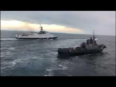 Russia Attacked Ukrainian Ships Near Crimea. VIDEO