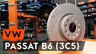 How to change front brake discs / front brake rotors on VW PASSAT B6 (3C5) [TUTORIAL AUTODOC]