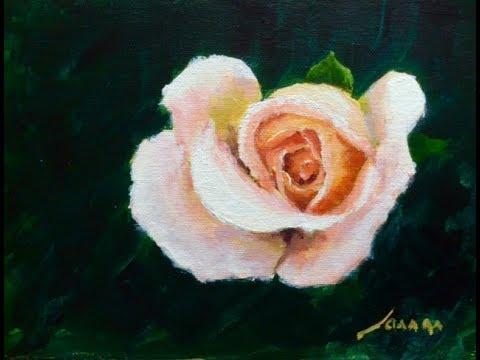 Malen Mit Acryl Eine Rose Teil 1 3 Youtube