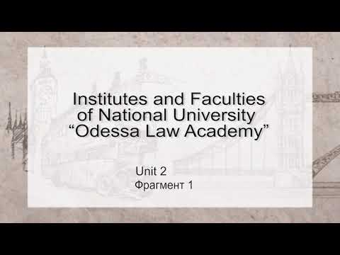 "Institutes and Faculties of NU ""OAL"" (1 фрагмент)"