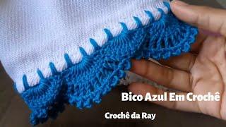 Lindo Bico Azul em Crochê por Crochê da Ray