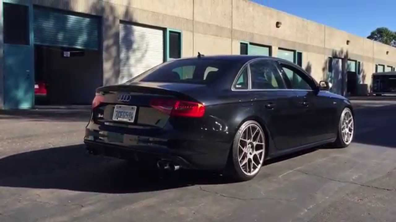 2014 B8 5 Audi S4 6SP MT with AWE Touring Exhaust and Non-resonated  Downpipes