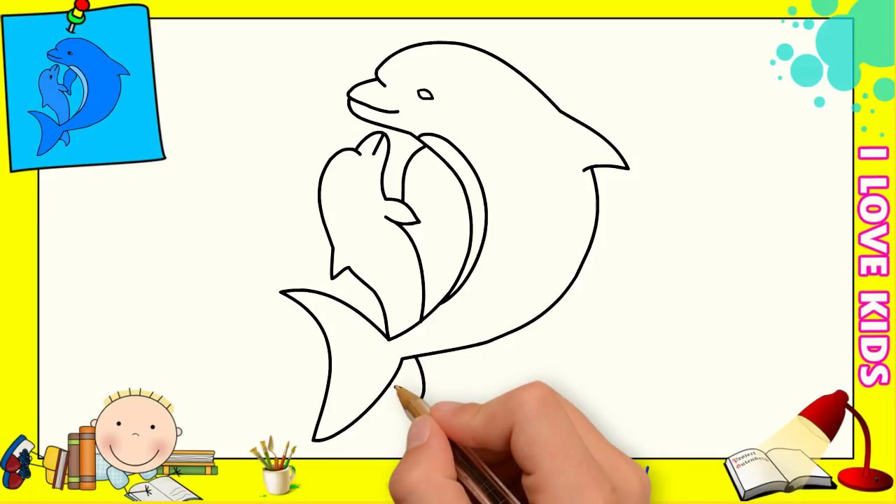 Dibujos De Delfines Faciles Paso A Paso Para Niños Como Dibujar Un Delfin 2 Youtube