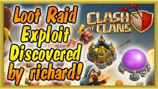clash of clans loot exploit cheat discovered by richard players cheating in raiding