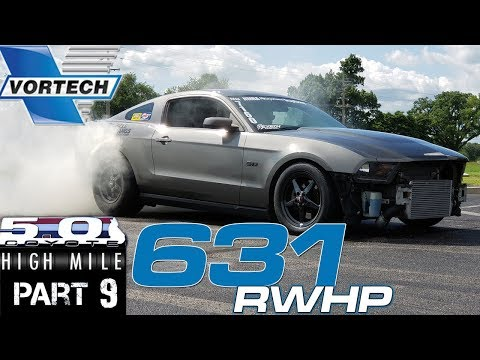 High Mile Coyote S197 2011 Mustang gets Vortech JTB Race supercharger (165,000 miles) at Brenspeed