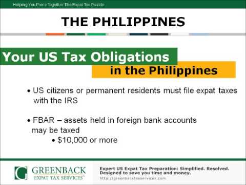 American in the Philippines? Here's the Expat Tax Information You Can't Afford to Miss!