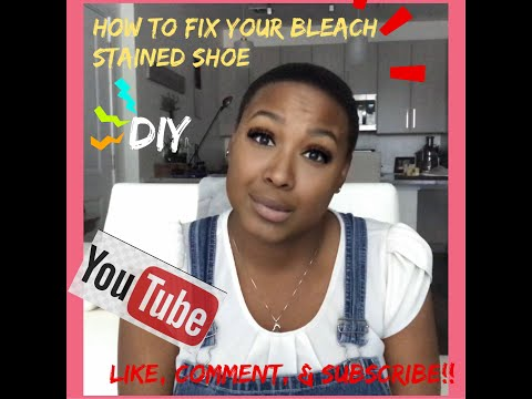 how-to-fix-a-bleach-stained-shoe