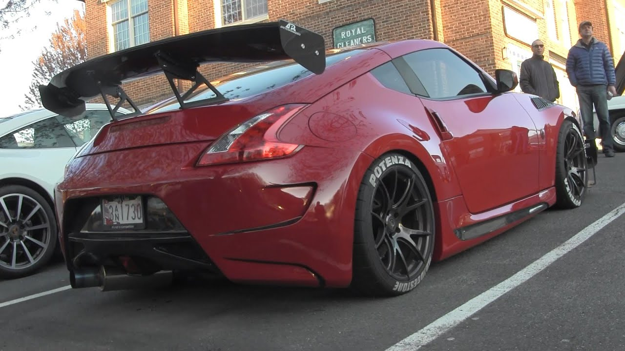 MODDED Nissan 370Z - Katie's Cars and Coffee - YouTube