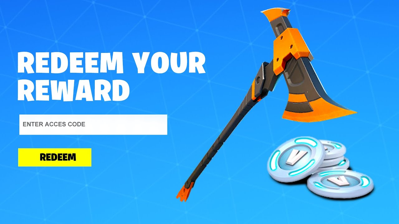 REDEEM THE FREE PICKAXE CODE in Fortnite! (How To Get Free Pickaxe)