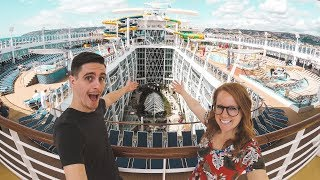 Boarding The LARGEST CRUISE SHIP IN THE WORLD! - Symphony of the Seas Inaugural Cruise