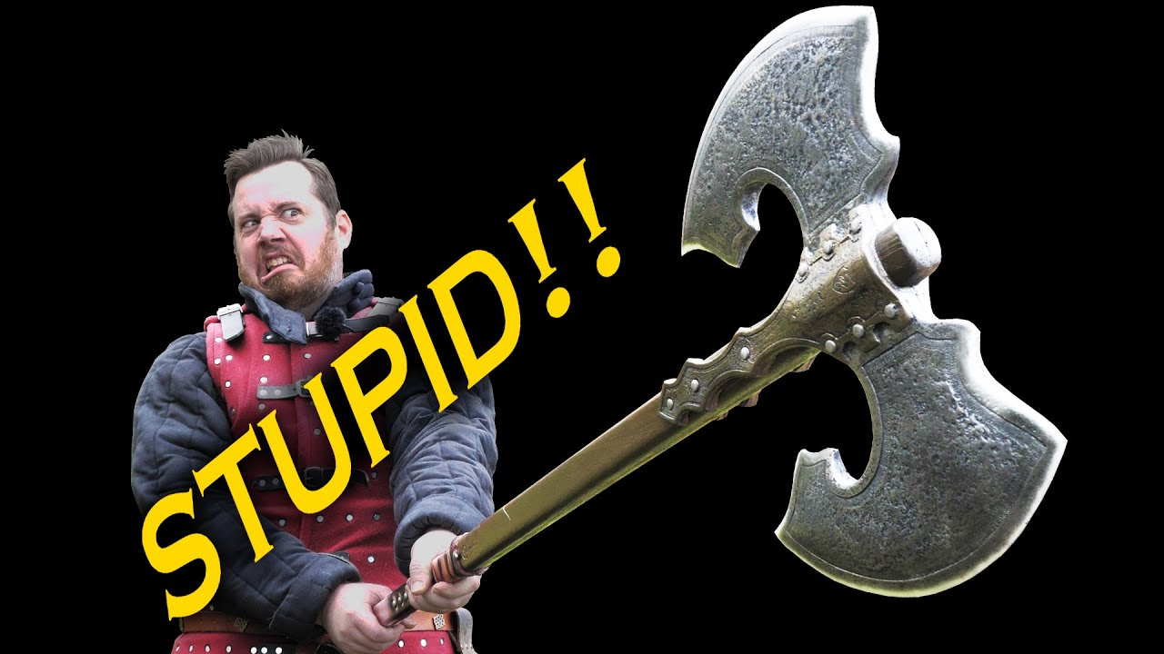 The double edged axe is STUPID!  -  Pop-culture weapons analysed