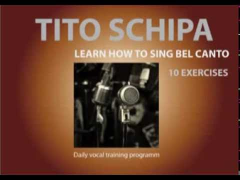 Tito Schipa - 10 Exercises - How to sing Bel Canto