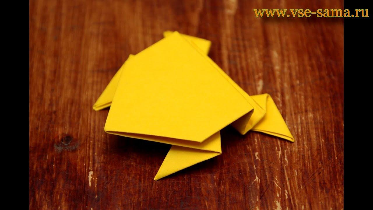 Как сделать оригами лягушку чтобы прыгала фото 695