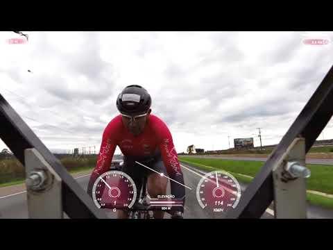 На велосипеде со скоростью 202 км/ч