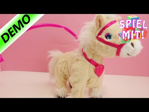 AniMagic PonyTessie kannlaufen, wiehern und hat pinke Lichteffekte | Pferdespielzeug | Deutsch