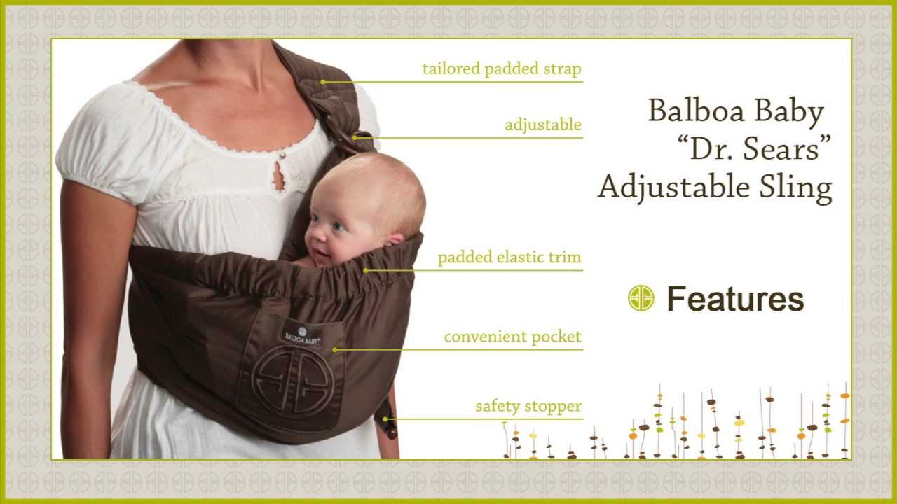 87308419759 Balboa Baby Adjustable Sling Overview - YouTube