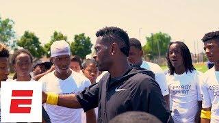 Steelers wide receiver Antonio Brown mentors children across the country | ESPN