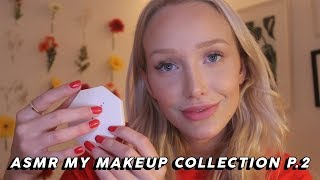 ASMR Makeup Collection Show And Tell Part Two (Tapping, Lid Sounds…) | GwenGwiz