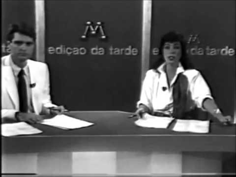 Jacira Lucas e Eduardo Homem de Carvalho TV Manchete 1987