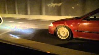 J32 Eg coupe vs. K24 Eg Hatch Honda roll race