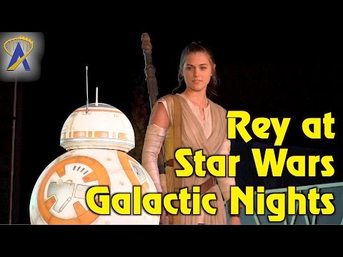 Thumbnail: DEBUT: Rey joins finale of A Galaxy Far, Far Away during Star Wars Galactic Nights event