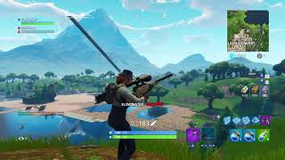 Fortnite Playground mode, 1v1 snipers only. (422 m snipe)