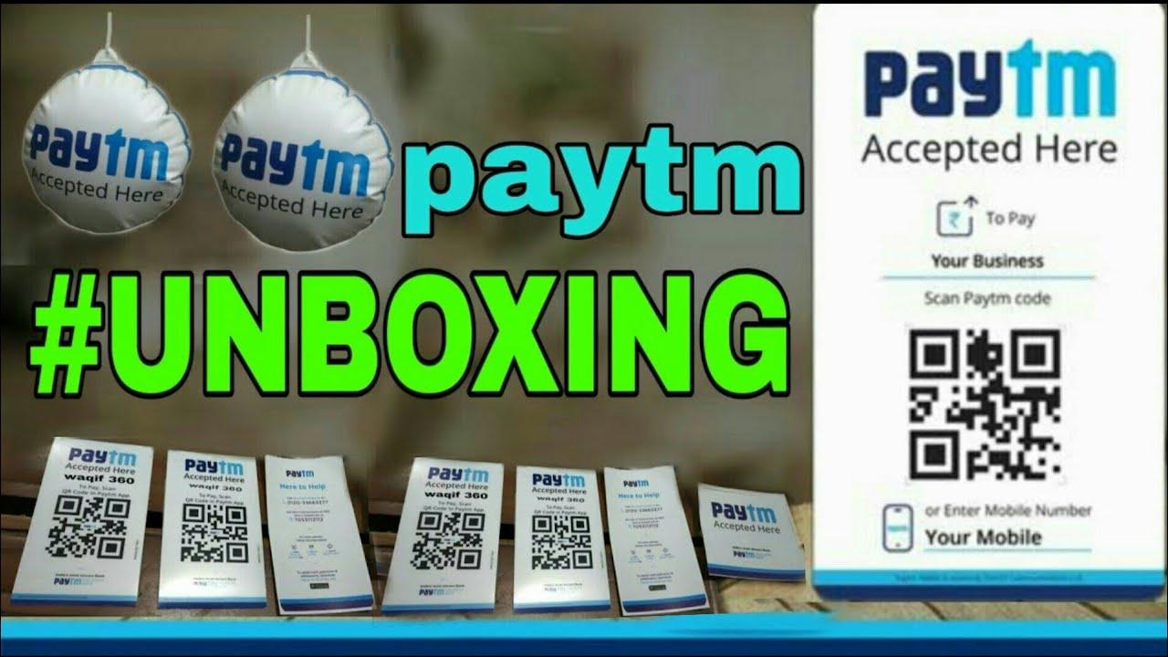 Paytm QR CODE unboxing|| #mjtk || tech apk