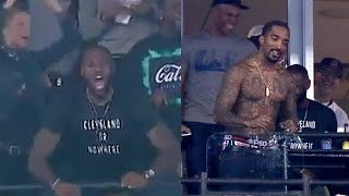 LeBron James & J.R. Smith Lose Their Damn Minds During World Series