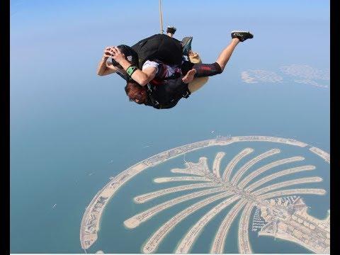 "Rajesh Kumar Nagapuri #SkyDiveDubai 2018 ""Feel the trill of SkyDive at Dubai Palm"""