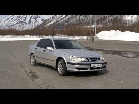Saab 9-5 Турбо. Заезд с Калина СПОРТ.