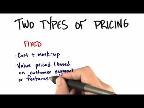 Pricing - How to Build a Startup
