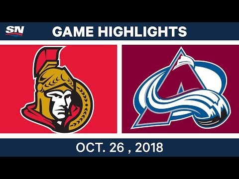 NHL Highlights | Senators vs. Avalanche - Oct. 26, 2018