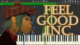 GORILLAZ - FEEL GOOD INC. (Piano) - SYNTHESIA