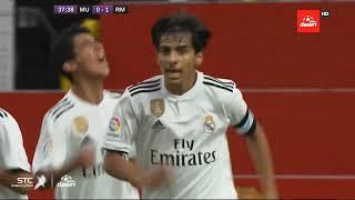 الهدف الأول لأكاديمية ريال مدريد (علي عبد رب النبي) في أكاديمية مانشستر يونايتد في نهائي كاس التحدي