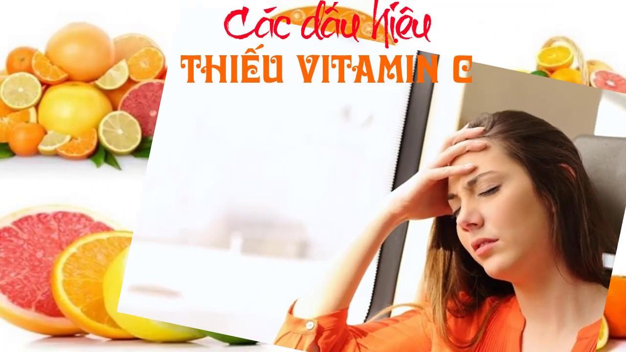 Các dấu hiệu thiếu vitamin C