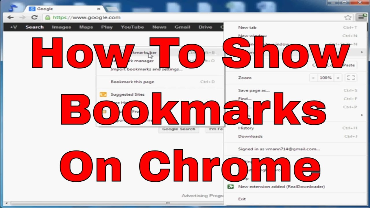 How to Display Bookmarks in Chrome photo