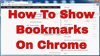 How to show bookmarks on chrome