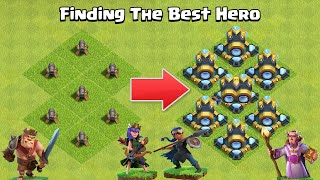 Every Level Heroes VS Every Level Cannon Formation | Clash of Clans