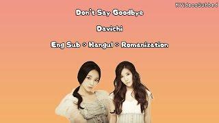 Davichi _ Don 39 t Say Goodbye Eng Sub Han Rom HD