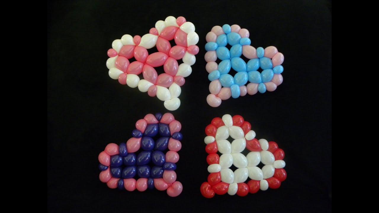 Corazones con globos heart balloons youtube - Como hacer figuras con globos ...