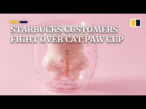 Customers fight over Starbucks' limited edition cat paw cup in China