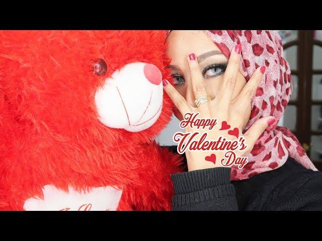 مكياج جليترى سموكى ل عيد الحب | Valentine's day Makeup Smokey Glitter