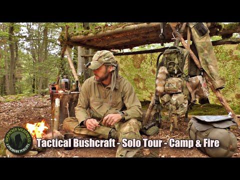 Tactical Bushcraft mit Lagerbau und Übernachtung - Survival & Bushcraft Camp mit Lagerfeuer