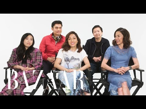 The Cast of 'Crazy Rich Asians' on Real or Fake Crazy Rich Fashion Trends | Harper's BAZAAR