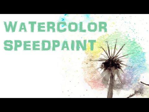 Speedpaint - Dandelion [Watercolor Weekend]