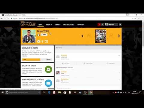 Como crear una cuenta de social club y unirte a una crew en  GTA V 2017 - Fácil y Rapido -  Maax2302