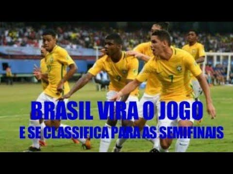 BRASIL SE CLASSIFICA PARA AS SEMIFINAIS DO MUNDIAL SUB 17!!! GOLS DA VIRADA BRASILEIRA