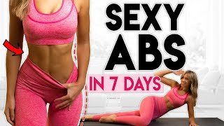 SEXY ABS in 7 Days (lose belly fat) | 10 minute Home Workout
