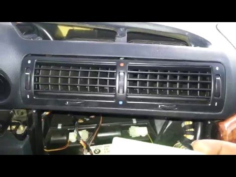 BMW E38 740 750 Center Dash Air Vent Grille Removal