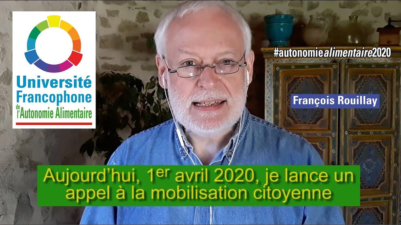 Sécurité alimentaire : appel à la mobilisation citoyenne !